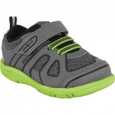 Grip 'n' Go - Jupiter Charcoal Lime Athletic Shoe