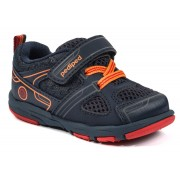 Grip 'n' Go - Mars Navy Orange Athletic Shoe
