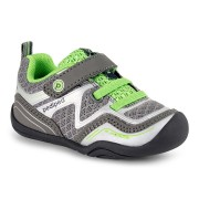 Grip 'n' Go - Force Silver Lime Athletic Shoe ¿