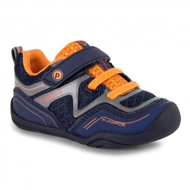 Grip 'n' Go - Force Navy Orange Athletic Shoe