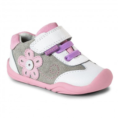 Grip 'n' Go - Claudia White Pink Shoe