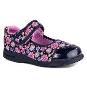 Flex - Becky Navy Floral Mary Jane