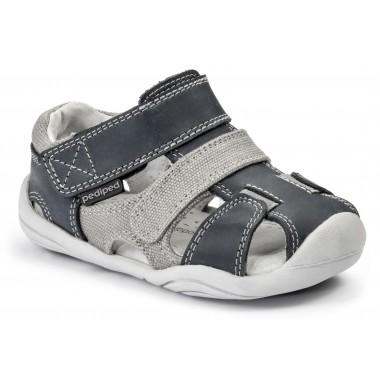 Grip 'n' Go - Joshua Navy Grey Sandal